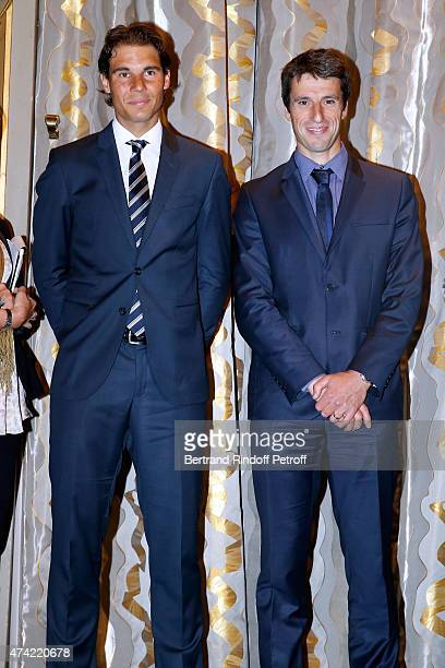 Tennis Player Rafael Nadal and Member of the International Olympic Committee Tony Estanguet attend Mayor of Paris Anne Hidalgo Awards the 'Grand...
