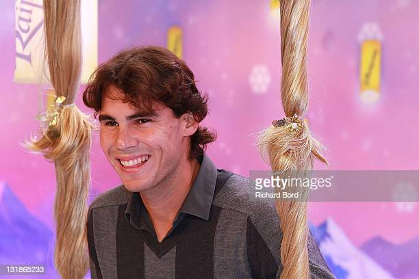 Tennis player Rafael Nadal attends the Raiponce Premiere during the Christmas Season Launch at Disneyland Paris on November 6 2010 in Paris France