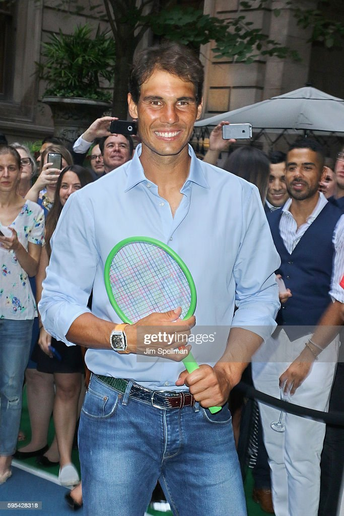 Tennis player Rafael Nadal hosts the Virtual Tennis Tournament at Lotte New York Palace on August 25 2016 in New York City