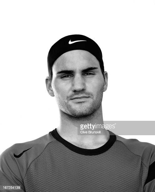 Tennis player Roger Federer is photographed on October 9 2004 in Miami Florida
