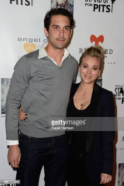 Tennis Player Ryan Sweeting and actress Kaley Cuoco attend 'Stand Up For Pits' Los Angeles Charity awareness and fundraising comedy night at Largo on...