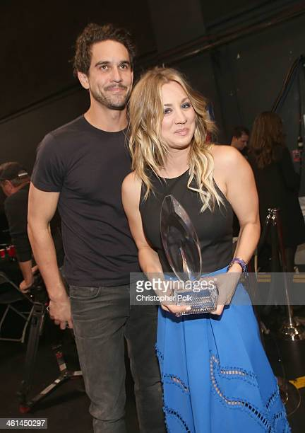 Tennis player Ryan Sweeting and actress Kaley Cuoco attend The 40th Annual People's Choice Awards at Nokia Theatre LA Live on January 8 2014 in Los...