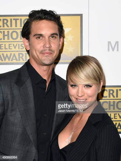 Tennis player Ryan Sweeting and actress Kaley Cuoco attend the 4th Annual Critics' Choice Television Awards at The Beverly Hilton Hotel on June 19...