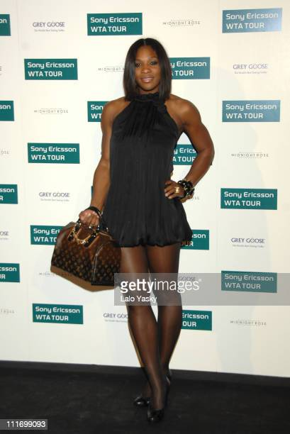 Tennis player Serena Williams arrives to Sony Ericsson Championship Party at ME Hotel on November 10 2007 in Madrid Spain