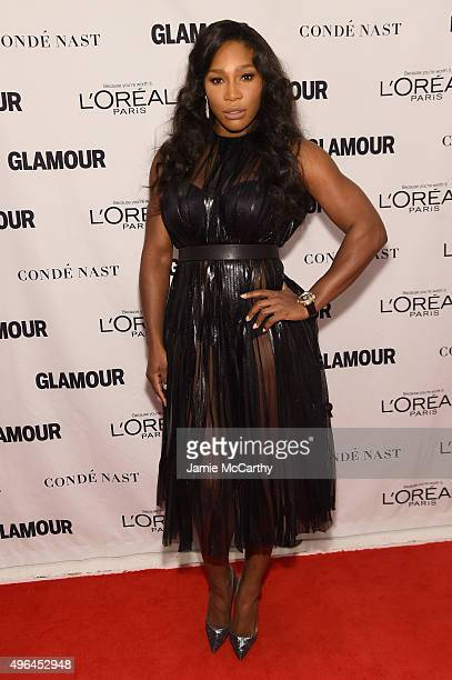 Tennis player Serena Williams attends 2015 Glamour Women Of The Year Awards at Carnegie Hall on November 9 2015 in New York City