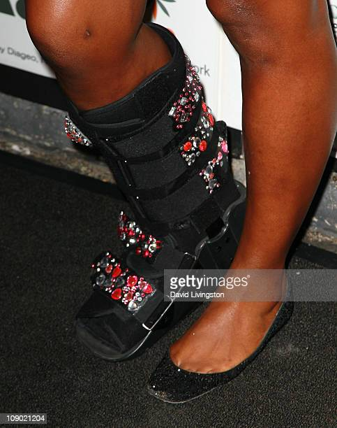 Tennis player Serena Williams attends Ciroc Vodka OK Magazine Step Up Women's Network Women of Music Celebration at The Colony on February 11 2011 in...