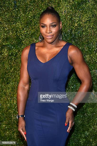 Tennis player Serena Williams attends the 11th annual CFDA/Vogue Fashion Fund Awards at Spring Studios on November 3 2014 in New York City