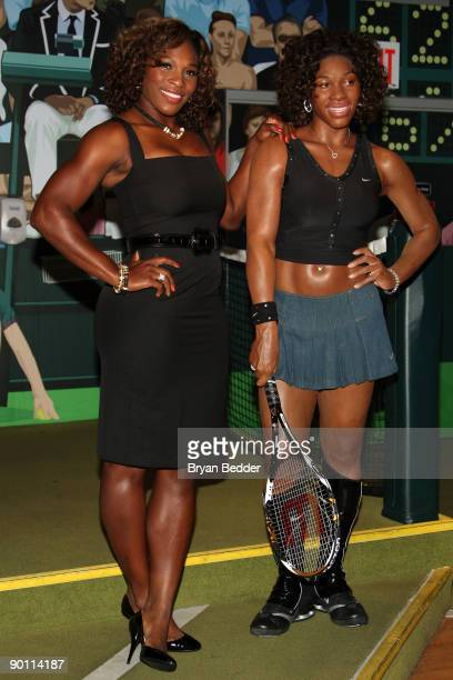 Tennis player Serena Williams attends the unveiling of her wax figure at Madame Tussauds on August 27 2009 in New York City