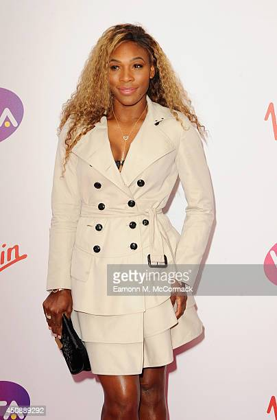 Tennis Player Serena Williams attends the WTA PreWimbledon Party as guests enjoy Ciroc Vodka presented by Dubai Duty Free at Kensington Roof Gardens...