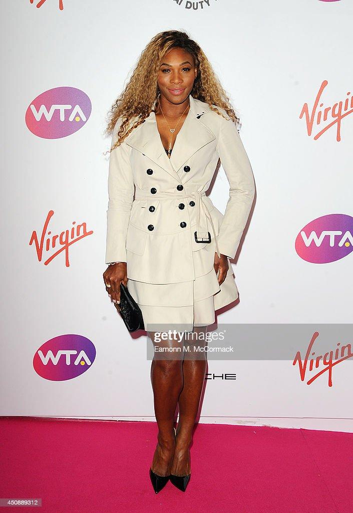 Tennis Player Serena Williams attends the WTA PreWimbledon Party as guests enjoy Ciroc Vodka presented by Dubai Duty Free at Kensington Roof Gardens...