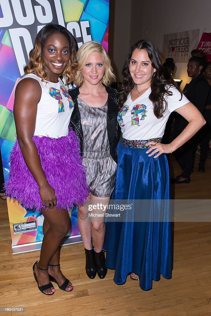 Tennis player Sloane Stephens, actress Brittany Snow and designer Stacy Igel attend the Just Dance with Boy Meets Girl Fashion Show at STYLE360 Fashion Pavilion in Chelsea on September 12, 2013 in New York City.