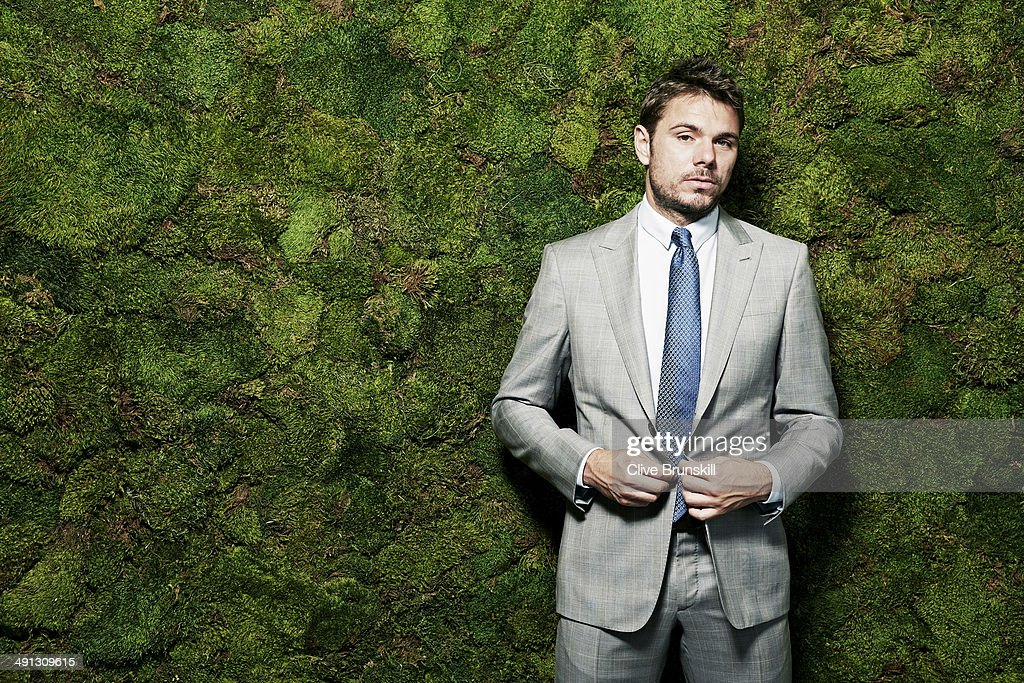 Tennis player Stanislas Wawrinka is photographed at the Eden Roc hotel on March 18, 2014 in Miami, Florida. All clothing and accessories by Giorgio Armani, courtesy of Bal Harbour Shops.