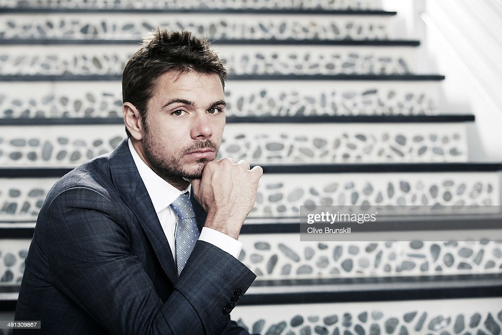 Tennis player <a gi-track='captionPersonalityLinkClicked' href=/galleries/search?phrase=Stanislas+Wawrinka&family=editorial&specificpeople=557155 ng-click='$event.stopPropagation()'>Stanislas Wawrinka</a> is photographed at the Eden Roc hotel on March 18, 2014 in Miami, Florida. All clothing and accessories by Giorgio Armani, courtesy of Bal Harbour Shops.