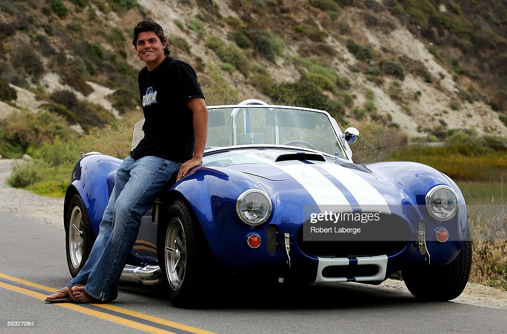 ATP tennis player Taylor Dent poses with his Ford Cobra Kit Car at the Upper Newport & Taylor Dent Is Photographed With His Ford Cobra Kit Car Photos and ... markmcfarlin.com