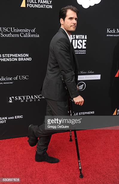 Tennis player Tommy Haas arrives at the 3rd Biennial Rebels With A Cause Fundraiser at Barker Hangar on May 11 2016 in Santa Monica California