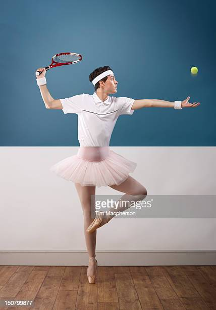Tennis player top, ballet dancer bottom
