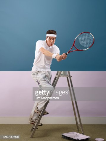 Tennis player top, decorator bottom