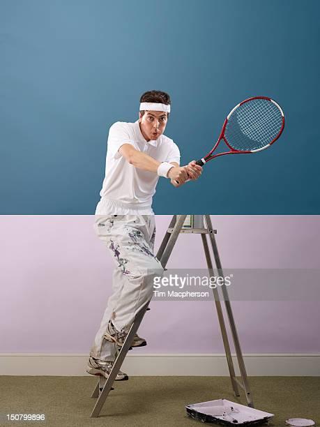 Tennis player top, decorator bottom