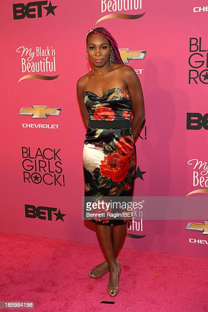 Tennis player Venus Williams attends BET Black Girls Rock Red Carpet at New Jersey Performing Arts Center on October 26 2013 in Newark New Jersey