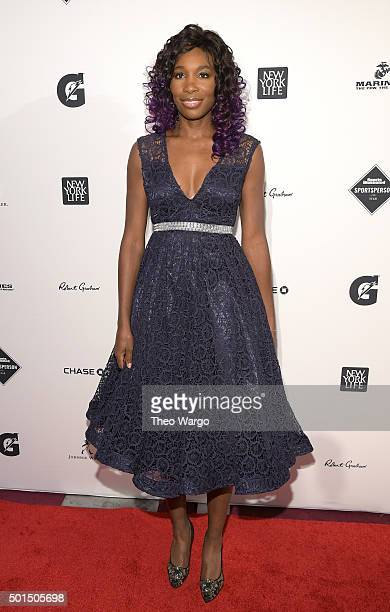 Tennis player Venus Williams attends Sports Illustrated Sportsperson of the Year Ceremony 2015 at Pier 60 on December 15 2015 in New York City