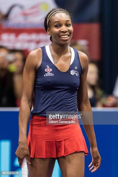 Tennis player Venus Williams attends the 2017 Mylan World TeamTennis Washington Kastles vs Philadelphia Freedoms match at Michael J Hagan Arena at St...