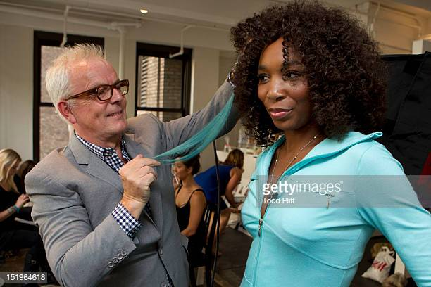 Tennis player Venus Williams is photographed for USA Today preparing her Eleven by Venus spring collection of athletic wear for New York Fashion Week...