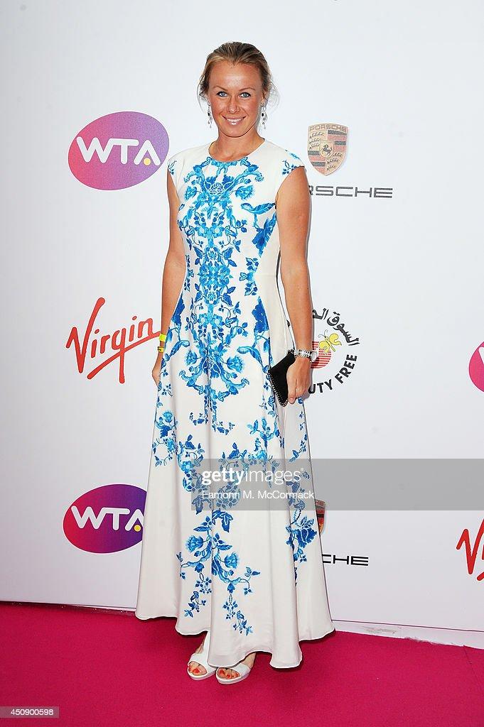 Tennis Player Vera Dushevina attends the WTA PreWimbledon Party as guests enjoy Ciroc Vodka presented by Dubai Duty Free at Kensington Roof Gardens...