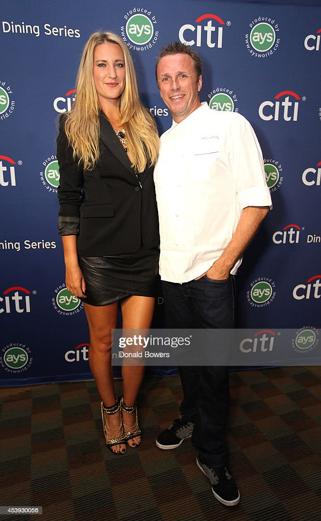 Tennis player <a gi-track='captionPersonalityLinkClicked' href=/galleries/search?phrase=Victoria+Azarenka&family=editorial&specificpeople=604872 ng-click='$event.stopPropagation()'>Victoria Azarenka</a> (L) and chef Marc Murphy attend Taste Of Tennis Week: Taste Of Tennis Gala at the W New York on August 21, 2014 in New York City.