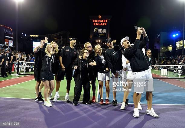 Tennis players Andre Agassi Tracy Austin Stefanie Graf James Blake Billie Jean King Sir Elton John tennis players Martina Navratilova Mardy Fish...