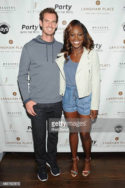 Tennis players Andy Murray and Sloane Stephens attend Party with the Pros during Taste Of Tennis Week at Langham Place on August 29 2015 in New York...
