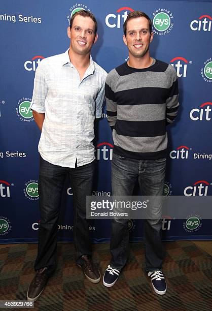 Tennis players Bob Bryan and Mike Bryan attend Taste Of Tennis Week Taste Of Tennis Gala at the W New York on August 21 2014 in New York City