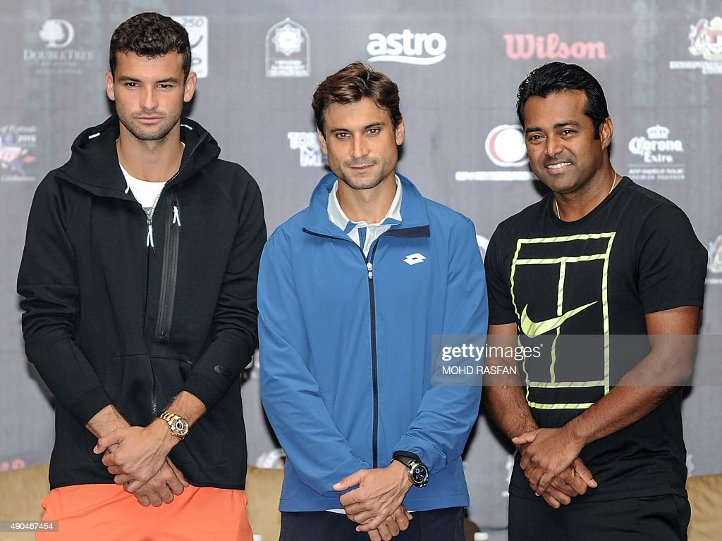 ¿Cuánto mide Leander Paes? - Altura - Real height Tennis-players-grigor-dimitrov-of-bulgaria-david-ferrer-of-spain-and-picture-id490467454