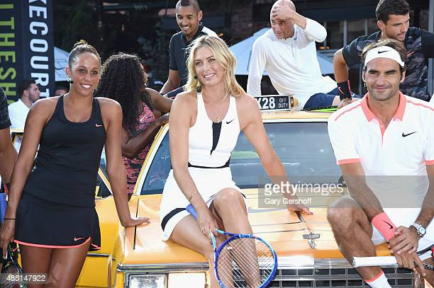 Tennis players Madison Keys Maria Sharapova Roger Federer and Serena Williams Nick Kyrgious andre Agassi and Grigor Dimitrov attend Nike's 'NYC...