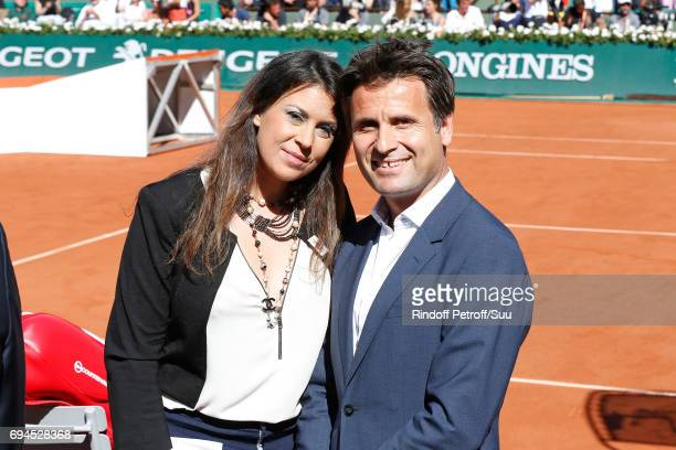 Tennis players Marion Bartoli and Arnaud Boetsch attend the Women Final of the 2017 French Tennis Open Day Fourteen at Roland Garros on June 10 2017...