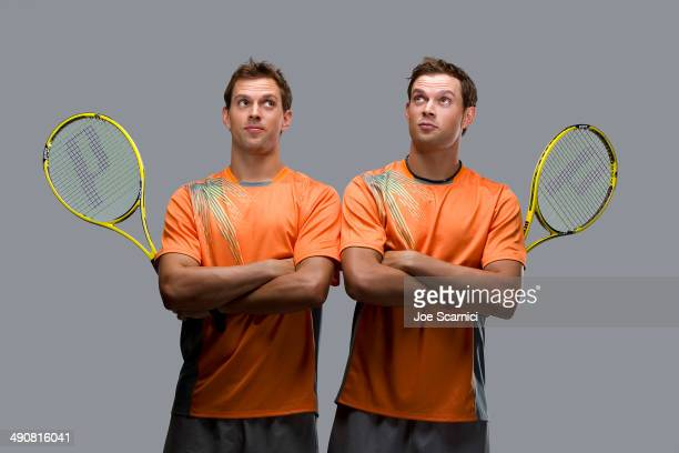 Tennis players Mike Bryan Bob Bryan are photographed for Self Assignment on December 16 2012 in Wesley Chapel Florida