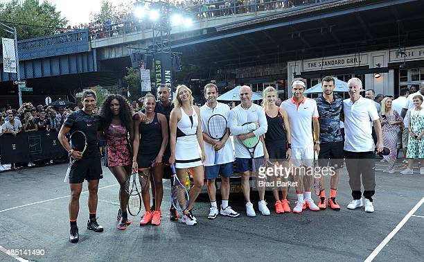 Tennis players Rafael Nadal Serena Williams Madison Keys Nick Kyrgios Maria Sharapova Pete Sampras Andre Agassi Genie Bouchard Roger Federer Grigor...