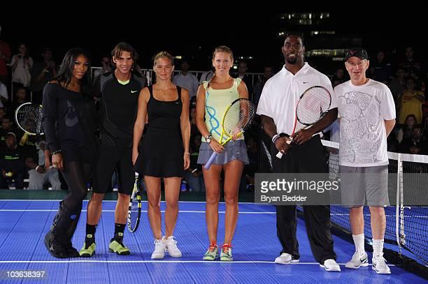 Tennis players Serena Williams Rafael Nadal model Bar Refaeli tennis player Victoria Azarenka New York Giant Justin Tuck and announcer John McEnroe...