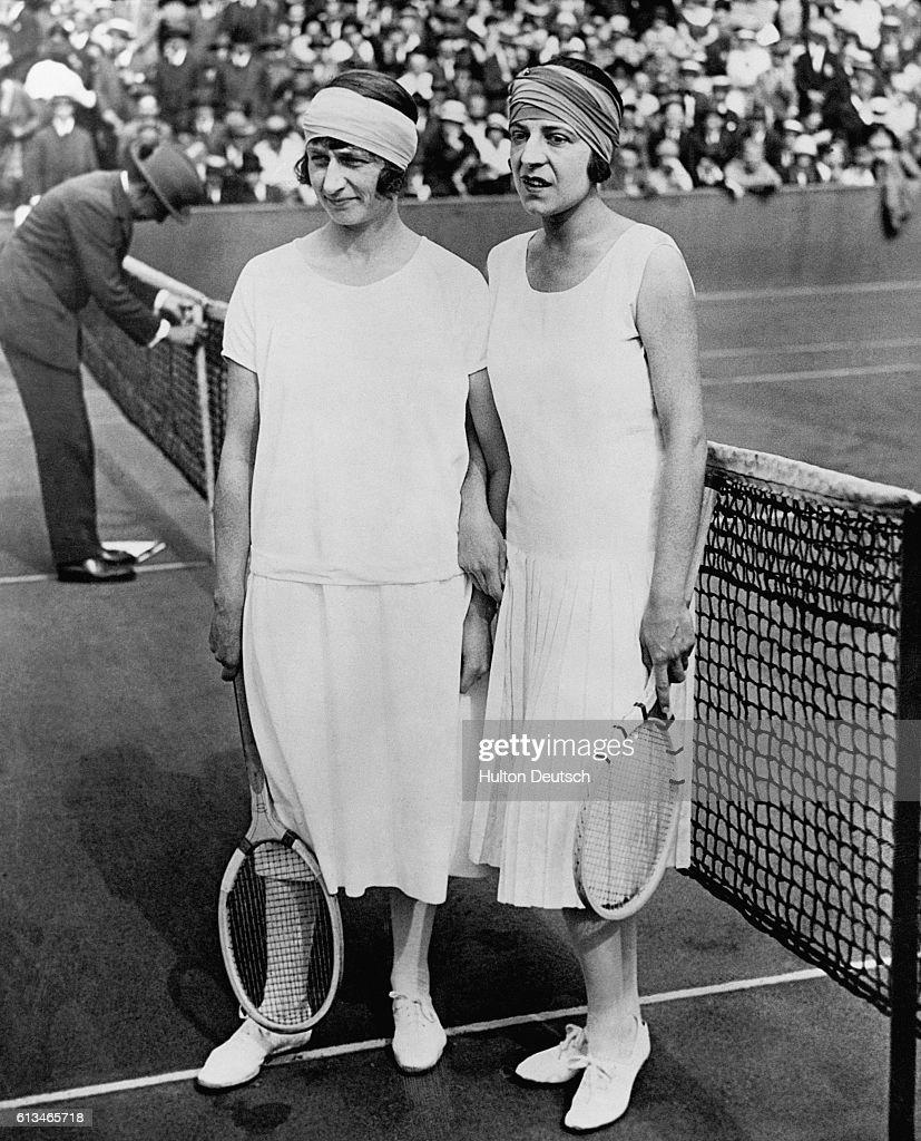 Tennis French Open Lenglen and McKane