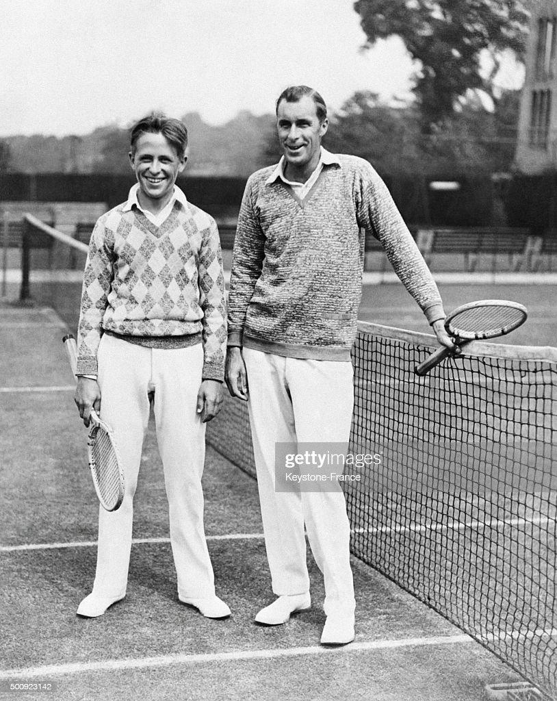 Tennis players Wilbur Coen and Bill Tilden during Wimbledon tennis