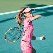 Tennis playing girl