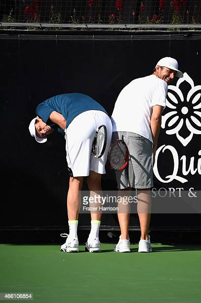 Tennis Pos Sam Querrey and Mardy Fish play at the 11th Annual Desert Smash Hosted By Will Ferrell Benefiting Cancer For College at La Quinta Resort...