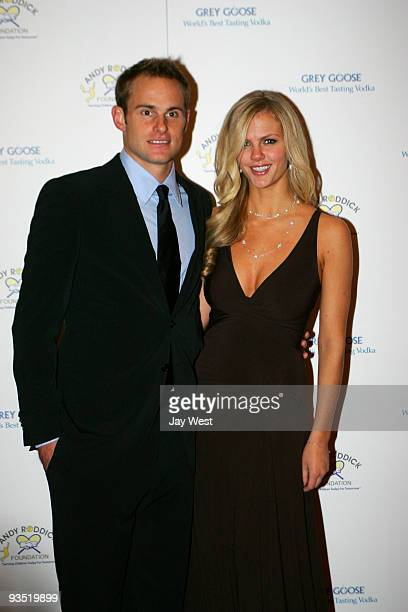 Tennis Pro Andy Roddick and wife model Brooklyn Decker attend the 4th Annual Andy Roddick Foundation Gala at Hilton Austin on November 30 2009 in...