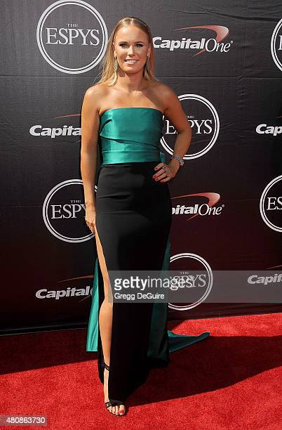 Tennis pro Caroline Wozniacki arrives at The 2015 ESPYS at Microsoft Theater on July 15 2015 in Los Angeles California
