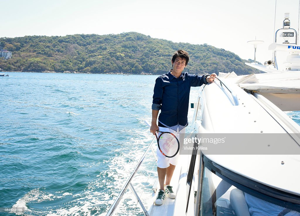 Tennis Pro Kei Nishikori Enjoying Some Down Time In Acapulco, Mexico