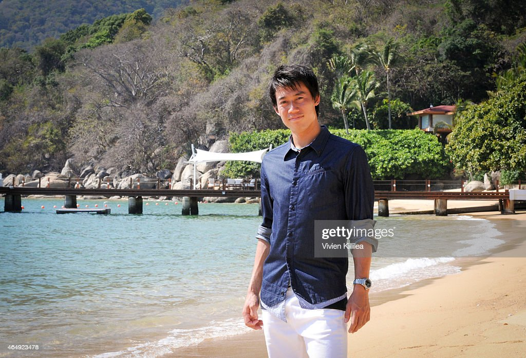 Tennis Pro <a gi-track='captionPersonalityLinkClicked' href=/galleries/search?phrase=Kei+Nishikori&family=editorial&specificpeople=4432498 ng-click='$event.stopPropagation()'>Kei Nishikori</a> Enjoying Some Down Time In Acapulco, Mexico on March 1, 2015 in Acapulco, Mexico.