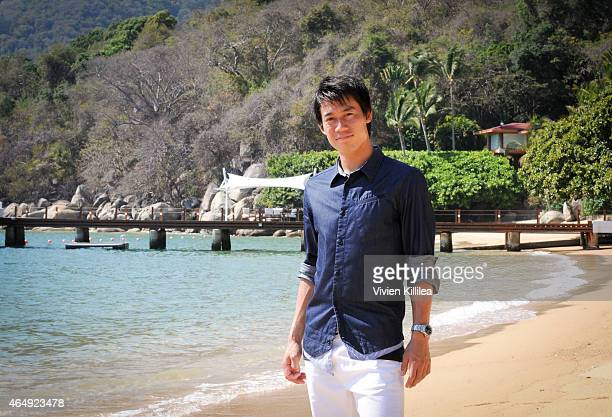 Tennis Pro Kei Nishikori Enjoying Some Down Time In Acapulco Mexico on March 1 2015 in Acapulco Mexico
