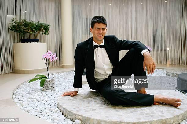 Tennis pro Novak Djokovic poses for a portrait shoot on April 15 2007 in Monte Carlo Monaco