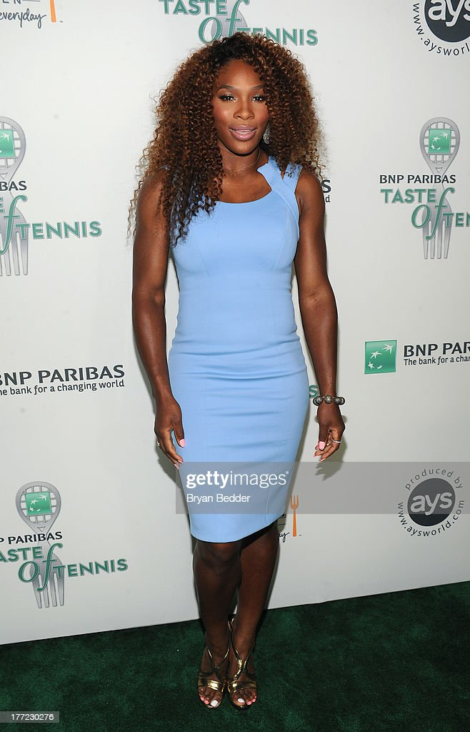 Tennis Pro <a gi-track='captionPersonalityLinkClicked' href=/galleries/search?phrase=Serena+Williams&family=editorial&specificpeople=171101 ng-click='$event.stopPropagation()'>Serena Williams</a> attends the 14th Annual BNP Paribas Taste Of Tennis at W New York Hotel on August 22, 2013 in New York City.