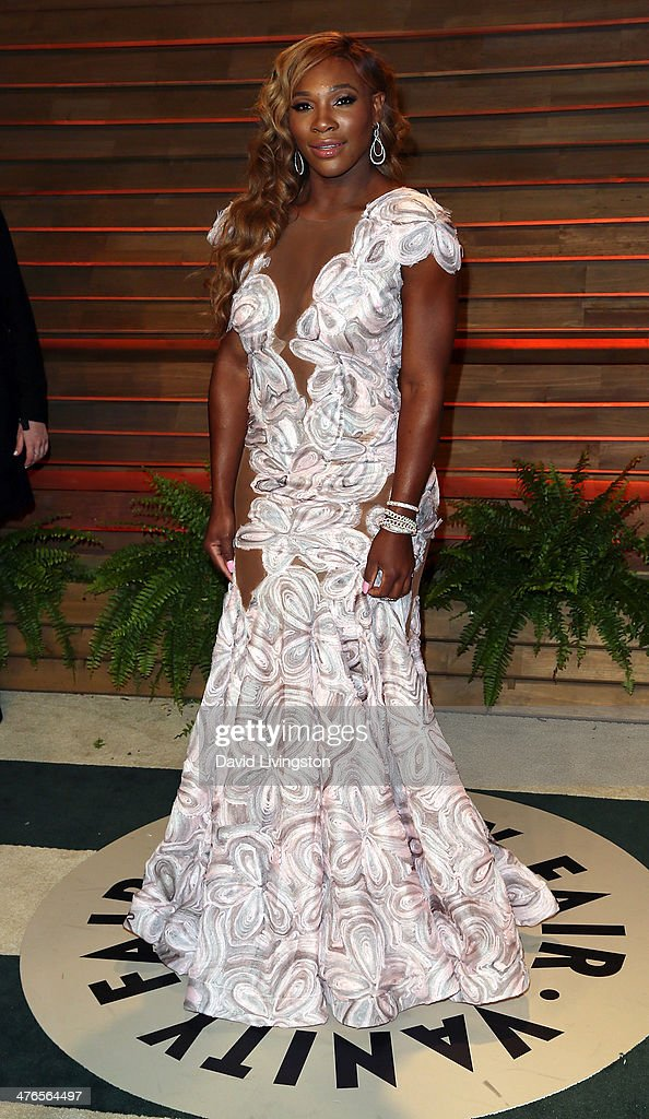 Tennis pro <a gi-track='captionPersonalityLinkClicked' href=/galleries/search?phrase=Serena+Williams&family=editorial&specificpeople=171101 ng-click='$event.stopPropagation()'>Serena Williams</a> attends the 2014 Vanity Fair Oscar Party hosted by Graydon Carter on March 2, 2014 in West Hollywood, California.