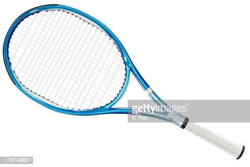 Tennis Racket Blue Style : Stock Photo